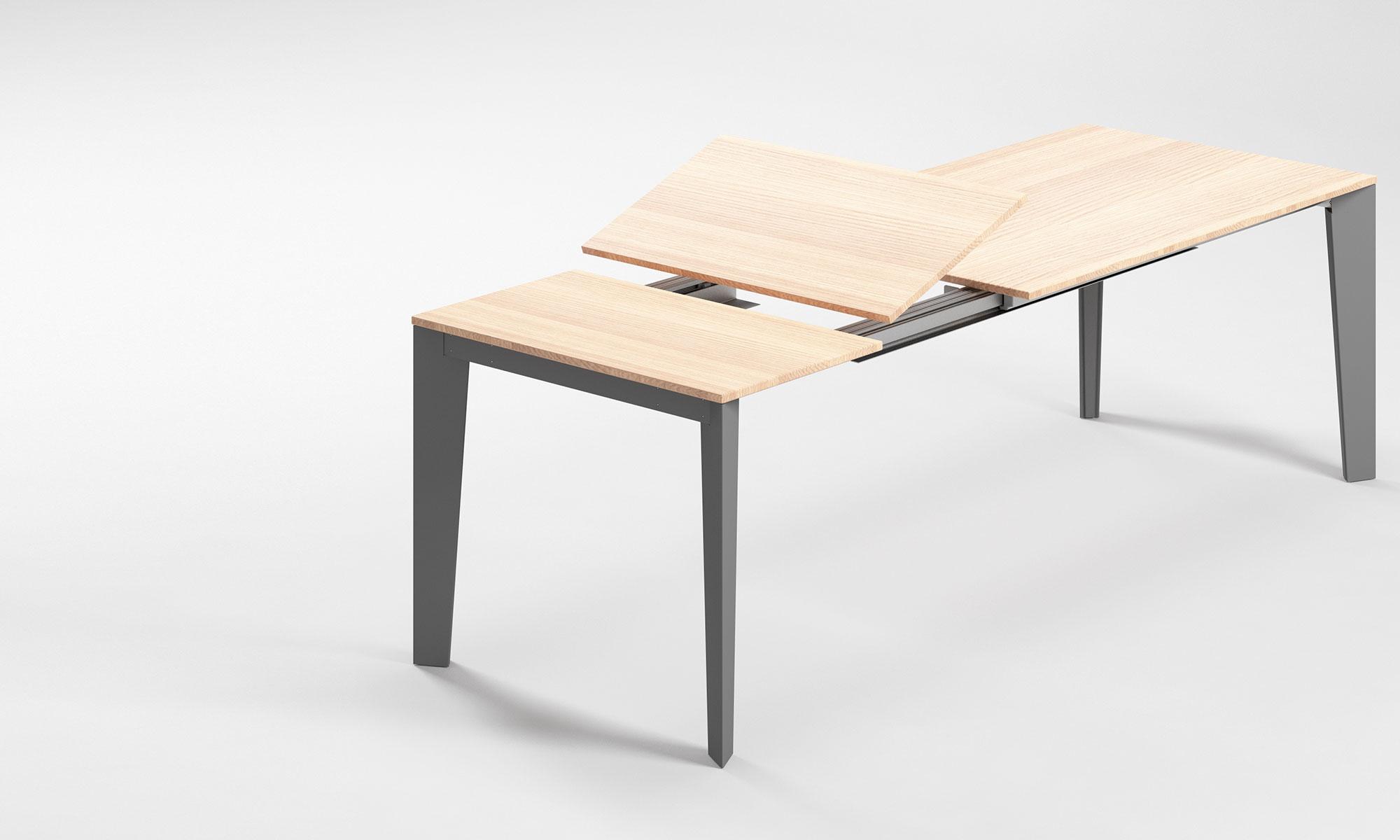 Tavolo Con Gamba Centrale Allungabile meccanismi per tavoli allungabili | evomet srl