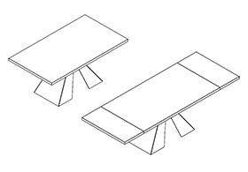 Meccanismo Per Tavoli Allungabili.Telai Per Tavoli Allungabili Con Basamento Centrale Evomet S R L