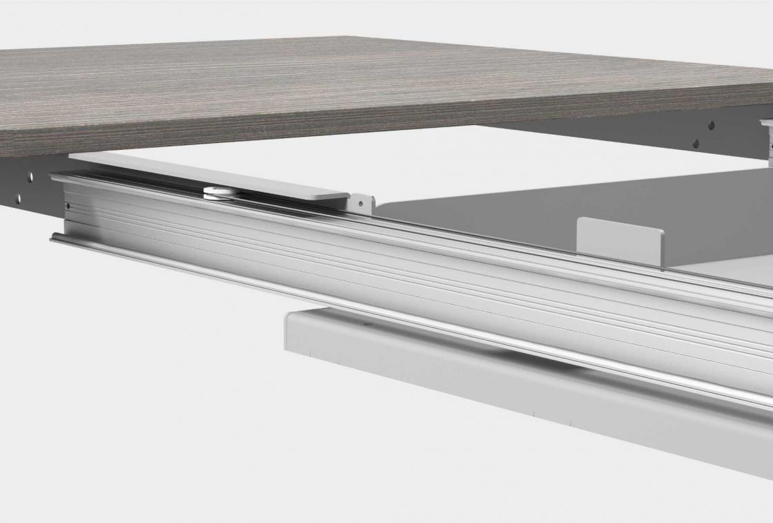Guide Allungabili Per Tavoli.Telai Per Tavoli Allungabili Con Basamento Centrale Evomet S R L