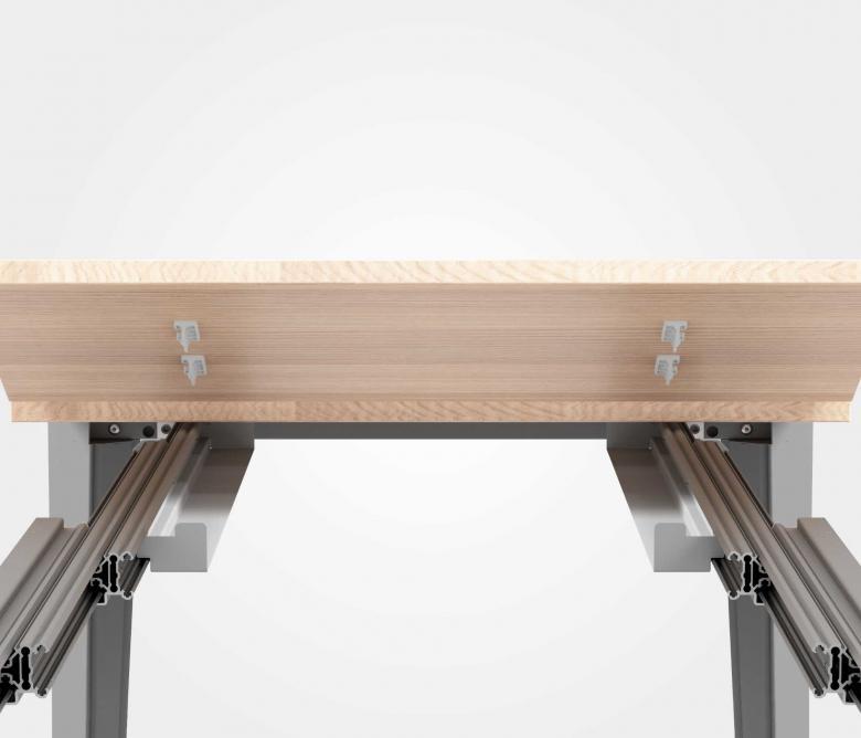 Meccanismo per tavoli allungabili brevettato