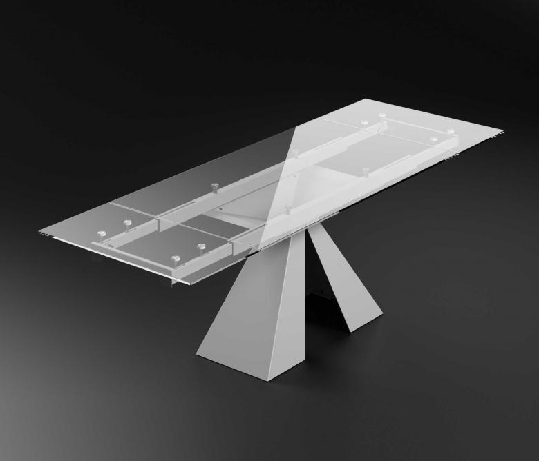 Telaio per tavoli allungabili in vetro